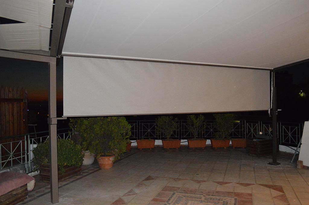 markilux pergola 210 σε κατοικία στην Πάτρα