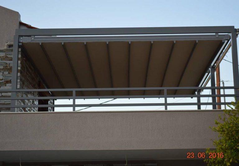 Σύστημα πέργκολας flat σε οικεία στο Ξυλόκαστρο σε ral μεταλική βαφή | Tentagon