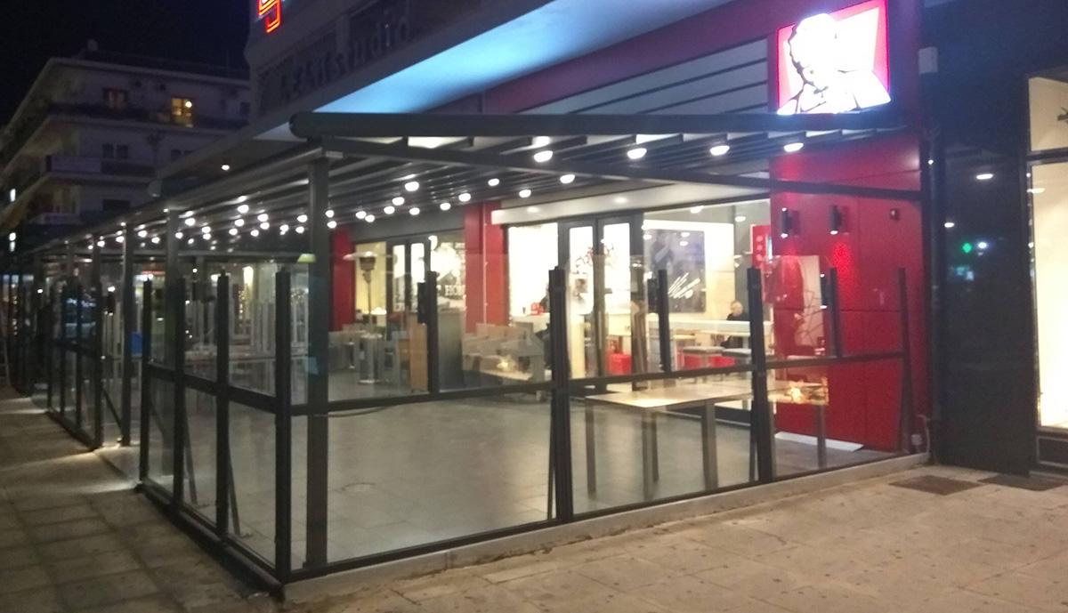 περγκοτέντα σε κατάστημα kfc και pizza hut