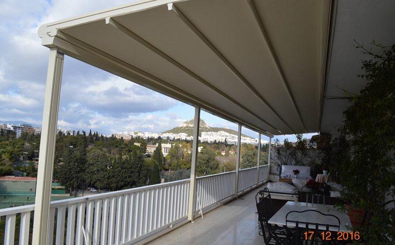 Τοποθέτηση περγοτέντας σε ρετιρέ στην Αθήνα | Tentagon