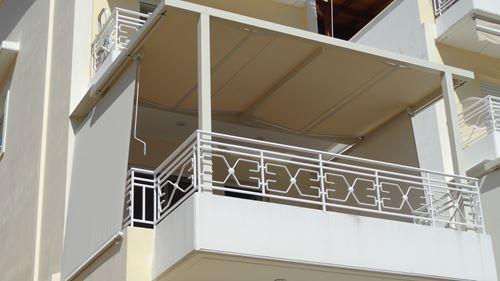 Κατασκευή μεταλλικής πέργκολας με πλεκτά πανιά στα Γλυκά Νερά | Tentagon