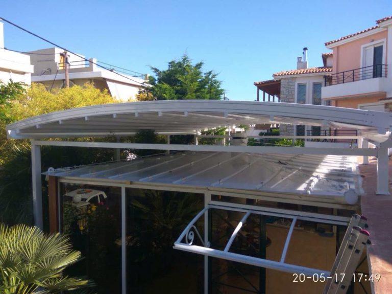 Σύστημα περγκοτέντας και αντικατάσταση πολυκαρβονικών φύλλων σε κατοικία στο Πικέρμι | Tentagon