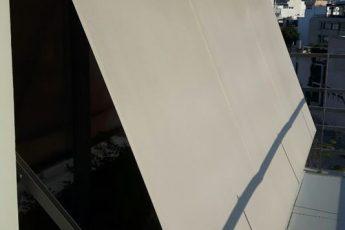 Σύστημα κασέτας Markilux 730 σε παράθυρο γραφείου στο κέντρο της Αθήνας | Tentagon