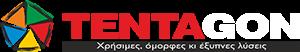 tentagon logo white
