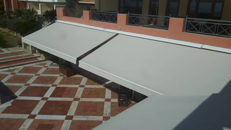 Αντικατάσταση υφασμάτων και τοποθέτηση αυτοματισμών σε ξενοδοχείο στην Ερέτρια | Tentagon